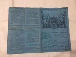 FOGLIO DI CONGEDO 115° REGGIMENTO FANTERIA MOTORIZZATO MORAZZONE VARESE 1936 - Diplomi E Pagelle