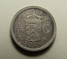 Netherlands East Indies 1/10 Gulden 1928 Silver - [ 4] Colonies