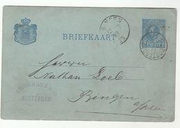1883 ROTTERDAM To BINDEN  Netherlands Postal STATIONERY Card Cover Stamps - Postal Stationery