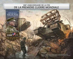 TOGO 2018 MNH** End World War 1 Ende 1. Weltkrieg Fin Premiere Guerre Mondiale S/S - OFFICIAL ISSUE - DH1815 - WW1