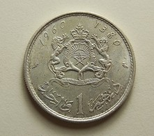 Morocco 1 Dirham 1960 Silver - Marokko