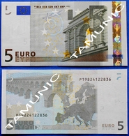 NETHERLANDS 5 EURO P 2002 E005 G5 AUNC - TRICHET - EURO