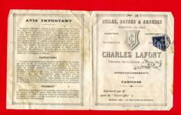 TARIF SAVONNERIE 6 Pages (Réf : D778) HUILES, SAVONS & AMANDES PRODUITS DU MIDI CHARLES LAFONT TRAVERSE SAINT-JÉRÔME AIX - 1900 – 1949