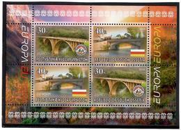 Georgia / South Ossetia 2018 EUROPA  Bridges( Flag, Arms). S/S:30,30,40,40 - Georgia