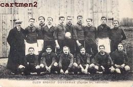 RARE CPA : OYONNAX CLUB SPORTIF EQUIPE 1er 1911-1912 RUGBY 01 AIN - Oyonnax
