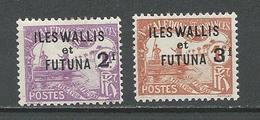 WALLIS Scott J9-J10 Yvert Taxe 9-10 (2) * Cote 35,00$ 1927 - Wallis-Et-Futuna