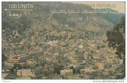 """YEMEN(GPT) - View Of Ta""""Izz, First Issue 100 Units, CN : 1YEMB, Used - Yemen"""