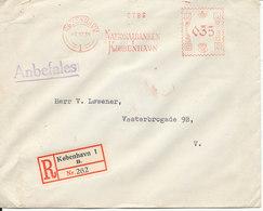 Denmark Registered Bank Cover With Meter Cancel Copenhagen 16-10-1934 (Nationalbanken Kjöbenhavn) - 1913-47 (Christian X)