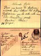91438) 1NTERO POSTALE DA 30C. IMPERIALE DA CATANIA A ROMA IL  30-6-1945 BOLLO ACS - 1900-44 Victor Emmanuel III.