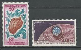WALLIS Scott C17, C18 Yvert PA20, PA18 (2) *LH Cote 16,00$ 1962 - Wallis-Et-Futuna