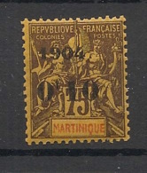 Martinique - 1904 - N°Yv. 57 - 0f10 Sur 75c - Type I - Neuf ** Luxe / MNH / Postfrisch - Ungebraucht