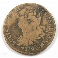 Louis XVI – 2 SOLS 1792 BB FRANCAIS - 1774-1791 Louis XVI.