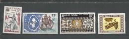 WALLIS Scott 174, C36, C59**, 195** Yvert 177, PA38, PA61**, 198 (4) *LH Et ** Cote 16,00$ 1971-5 - Wallis-Et-Futuna