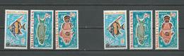 WALLIS Scott J37-J39, J37a-J39a Yvert Taxe 37-39, 37a-39a (6) * Et ** Réimpressions 1982 - Wallis-Et-Futuna