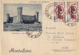 1961 Lettera Illustrata Da Montalcino Per Siena  024 - 6. 1946-.. Repubblica
