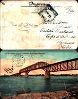 91444) Cartolina DI C.P.R. BRIDGE OVER ST.LAWRENCE RIVER,NEAR MONTREAL-VIAGGIATA - Montreal