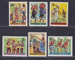 GUINEE N°  287 à 292 ** MNH Neufs Sans Charnière, TB (D8696) Danses Folkloriques - 1966 - Guinée (1958-...)