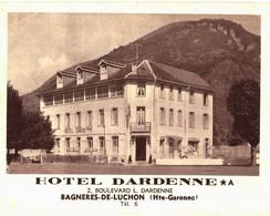 CPM* N°2167 -LOT DE 2 CARTES DE BAGNERES-DE-LUCHON- HOTEL DARDENNE CARTE DOUBLE+ VALLEE DU LYS - LAC VERT - VUE AERIENNE - Sonstige Gemeinden