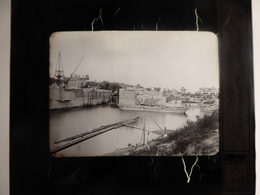 I61 - Plaque Photo - Positif - Freneuse - Seine Maritime - Travaux D'écluse - N° 20 - Diapositiva Su Vetro
