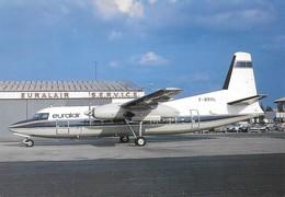 Avion Fokker F-27 (F-BRHL) EURALAIR Paris Le Bourget (2 Scans) - 1946-....: Modern Era