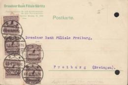 INFLA DR 5x 325 A P A MeF, Geprüft, Auf PK Der Fa. Dresdner Bank, Mit Stempel: Görlitz 14.11.1923 - Deutschland