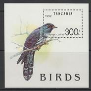 BLOC NEUF DE TANZANIE - COUCOU D'EUROPE N° Y&T 181 - Cuckoos & Turacos