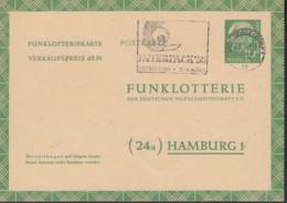BRD FP 6 A, Funklotteriekarte, Mit Stempel: Düsseldorf 23.1.1958 - INTERPACK '58 - BRD