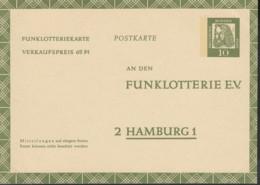 BRD  FP 9, Ungebraucht, Funklotteriekarte 1961 - BRD