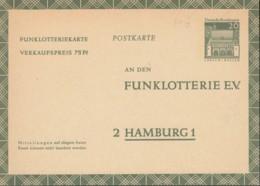 BRD  FP 13, Ungebraucht, Funklotteriekarte 1969 - BRD