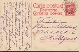 SCHWEIZ  MiNr. P 107 I, Gestempelt: Zürich 23.XII.1925 - Enteros Postales