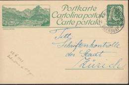 SCHWEIZ  MiNr. P 96 I, ZNr. 82.8, Bildpostkarte: ENGELBERG, Mit Stempel: Amriswil 2.VII.1923 - Postwaardestukken