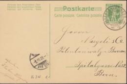 SCHWEIZ  MiNr. P 34 Mit Stempel: Niedergerlafingen 6.III.1908 - Ganzsachen