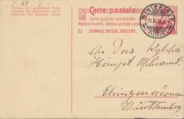 SCHWEIZ  MiNr. P  69 I, Mit Stempel: Winterthur 11.XI.1912 - Ganzsachen