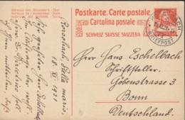 SCHWEIZ  MiNr. P  78 I Mit Stempel: Rorschach 18.XI.1921 - Postwaardestukken
