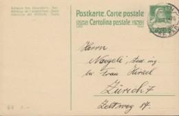 SCHWEIZ  MiNr. P 77 I, ZNr. 68 Mit Stempel: Bern 8.XI.1921 - Ganzsachen