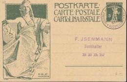 SCHWEIZ  MiNr. P 38 A, Mit Sonderstempel: Bern Internationale Postwertzeichen-Ausstellung 11.IX.1910 - Postwaardestukken