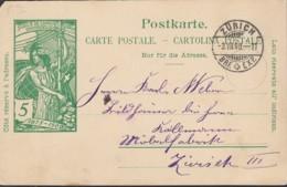 SCHWEIZ  MiNr. P 32 Mit Sstempel: Zürich 3.VII.1900 - Entiers Postaux