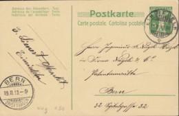 SCHWEIZ  MiNr. P 41 II, Mit Stempel: Einsiedeln 19.II.1913 - Postwaardestukken