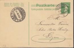 SCHWEIZ  MiNr. P 39, Mit Stempel: Wolhusen 8.IX.10 - Postwaardestukken