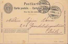 SCHWEIZ  MiNr. P 30 VII Mit DV: II 06, Mit Stempel: Porrentruy 9.VIII.1906 - Ganzsachen