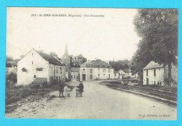 CPA Saint JEAN SUR ERVE Vue D'ensemble 53 Mayenne Canton De Meslay Du Maine - France