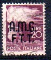 1947/8 Trieste - Fr. Italiani Soprastampati Su Due Righe 20 L - Usati