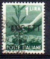 1949/0 Trieste - Democratica Soprastampati Su Una Riga 1 L - Usati