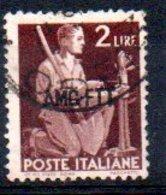 1949/0 Trieste - Democratica Soprastampati Su Una Riga 2 L - 7. Triest
