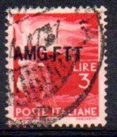 1949/0 Trieste - Democratica Soprastampati Su Una Riga 3 L - Usati