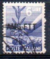 1949/0 Trieste - Democratica Soprastampati Su Una Riga 6 L - Usati