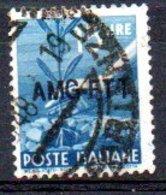 1949/0 Trieste - Democratica Soprastampati Su Una Riga 15 L - Usati