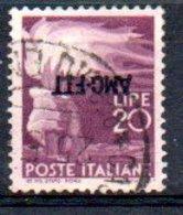 1949/0 Trieste - Democratica Soprastampati Su Una Riga 20 L - 7. Triest
