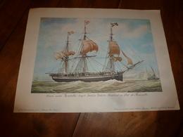 Trois Mâts LA HENRIELLE,Capitaine Louis Guion (Portrait Navire Sur Support Bristol ,dimension Hors-tout = 48cm X 36cm - Maritime Decoration