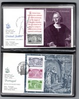 1992 Joint / Congiunta Italy Portugal Spain USA, SET OF 4x6 FLEETWOOD FDC'S IN 3 BINDERS: Discovery America B - Joint Issues